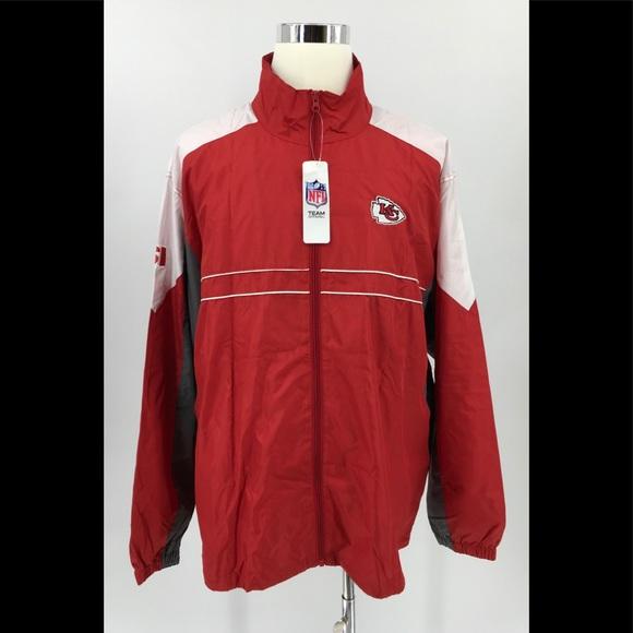 Dunbrooke Kansas City Chiefs Full Zip Windbreaker Jacket Men/'s XXL Light Coat SI